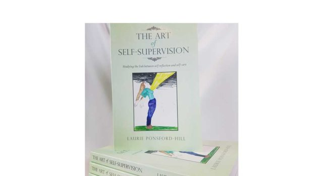 stack of the art of self-supervision books by laurie ponsford-hill