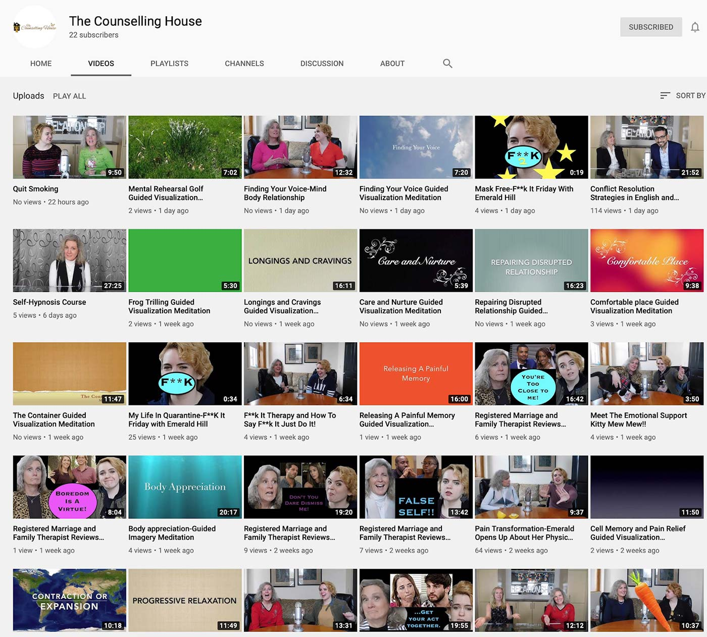 The Counselling House Youtube Channel